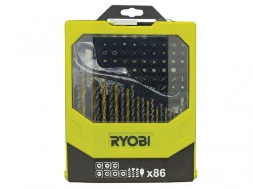 Ryobi RAK86MIX–Set von 86gemischte Bits Bohrer und Zubehör