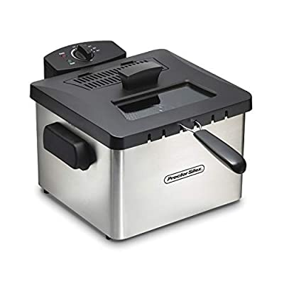 Proctor Silex 35044 Professional-Style Deep Fryer 5 L Capacity, Silver