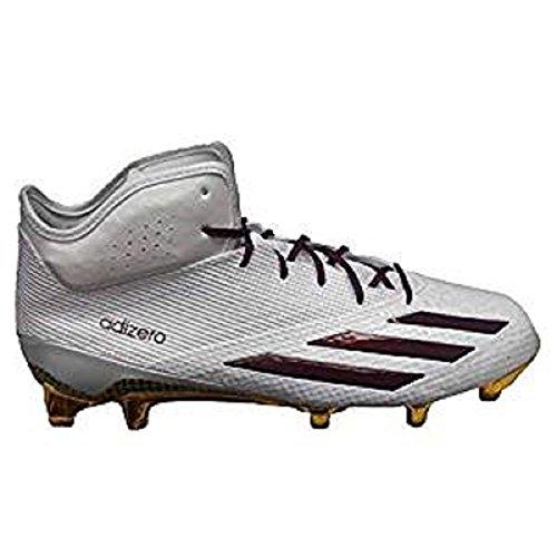 Adidas Heren Sm Adizero 5-sterren 5.0 X Ke Mid Voetbalcleats Wit / Kastanjebruin / Goud Massief