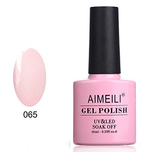 AIMEILI Soak Off UV LED Gel Nail Polish - Pink Nude (065) 10ml