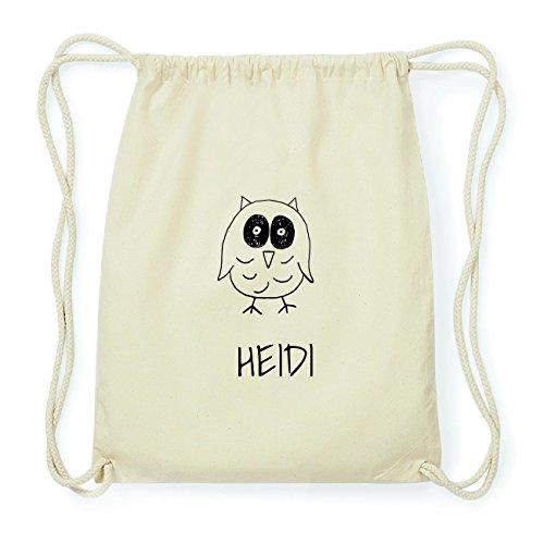 JOllipets HEIDI Hipster Turnbeutel Tasche Rucksack aus Baumwolle Design: Eule