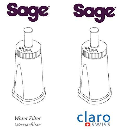 Sage Claro Swiss BES008 Lot de 2 filtres /à eau
