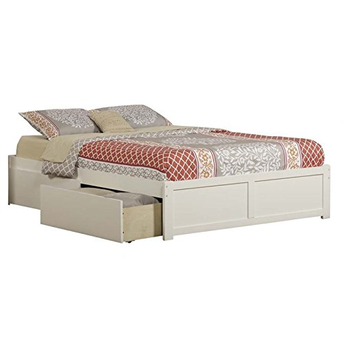 Atlantic Furniture AR8042112 Concord Bed, Queen, White