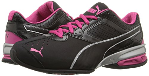 PUMA Women's Tazon 6 WN's fm Cross-Trainer Shoe Black Silver/Beetroot Purple, 7 M US by PUMA (Image #6)