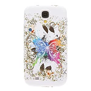 DUR Flourish Flowers Pattern Plastic Soft Back Case Cover for Samsung Galaxy S4 I9500