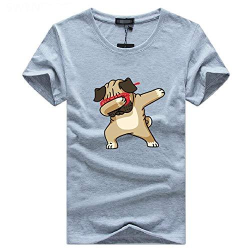 Men's T-Shirts Fashion Animal Dog Print Hipster Funny t Shirt Men Summer Casual Tee Shirt Male -