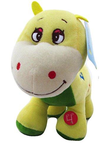 Musical Yellow Dinosaur ABC Stuffed Plays A-B-C's Plush Toy Singing 10
