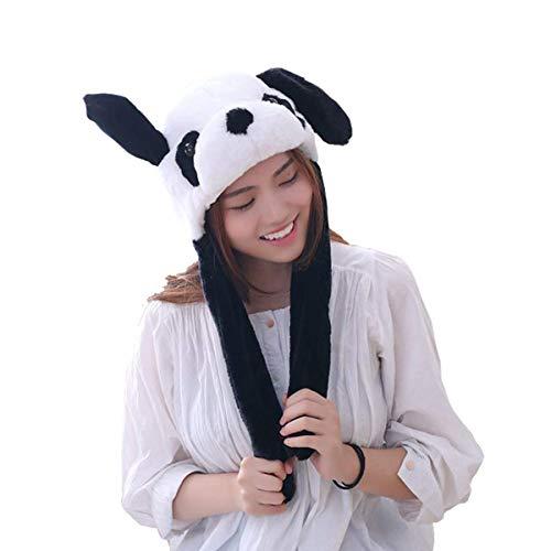 Bestmaple Funny Plush Panda Hat Moving Panda Ear