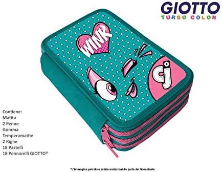 Star - Estuche 3 Cremalleras CJ Ver_Rosa Giotto & Fila MC.-CJ0010D-: Amazon.es: Hogar