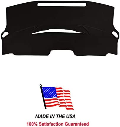 Carpet Dash Cover Compatible with 2016-2017 Toyota Prius Dashboard Cover Mat (Black)