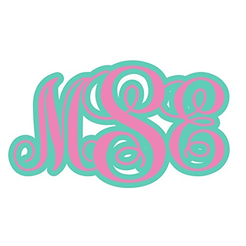 Double Layer Vine Monogram by An Engineered Craft - Personalized Vinyl Decal for Car / Phone / YETI cup