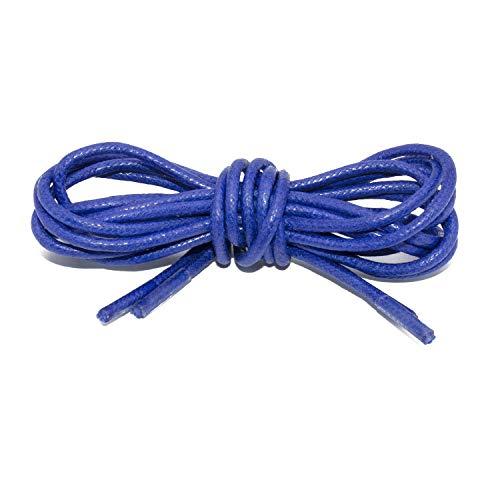 - Handshop Waxed Boot Shoelaces, Cotton Round Shoe Laces for Dress Shoes, Royal Blue 35.4 inch (90 cm)