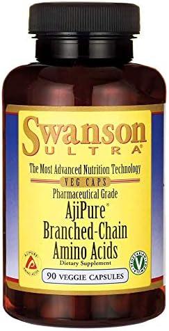 Swanson Ajipure Branched-Chain Amino Acids Pharmaceutical Grade 90 Veg Capsule
