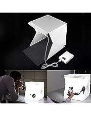 خيمة تصوير منتجات مع اظاءة مدمجة طول 25سم عرض 25سم