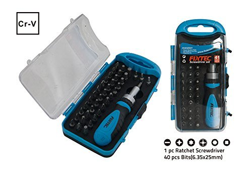 Fixtec 41 in 1 Screwdriver Bit Set With Ratcheting Screwdriv