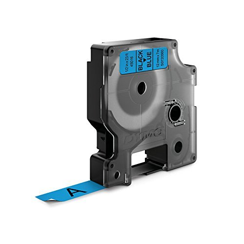 1//2 W x 23 L Renewed 1 cartridge 45016 DYMO Standard D1 Labeling Tape for LabelManager Label Makers Black print on Blue tape
