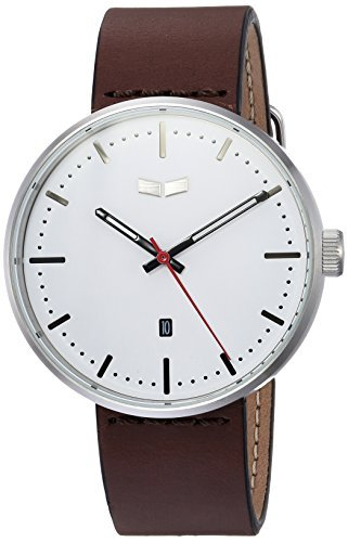 Vestal 'Roosevelt Italian' Quartz Stainless Steel and Leather Dress Watch Color:Brown (Model: RS42L03.DB) [並行輸入品] B078B9FY1M