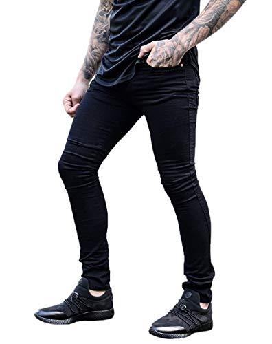 Pencil Moda Stretch Pantaloni Casual Retro Nero Pants Denim Jeans Battercake Jeggings Comodo Skinny Uomo pwAcFWHHq