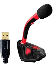 KLIM Voice + USB-desktopmicrofoon + Optimale geluidskwaliteit + Ideaal voor stemopname en -herkenning, streaming, YouTube, Podcast + Compatibel met Windows Mac PS4 + Nieuw 2021 + Rood