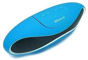 Bluetooth Wireless Mini Speaker FM Radio Mic For Laptop PC Tablet Mobile Blue