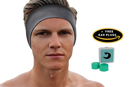 Will & Fox Swimming Headband Earband for Adults and Kids Physicians Choice Prevent Water in Ears - Free Swim Ear Plugs