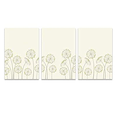 3 Panel Hand Drawing Style Dandelions x 3 Panels, Quality Creation, Elegant Handicraft