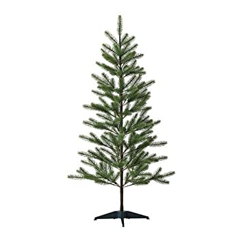 ikea artificial plant christmas tree 61 with tree topper star gold