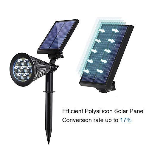 Appreciis Lights Solar 7 Adjustable Landscape Light Dark Sensing Security Night Lights for Patio (2