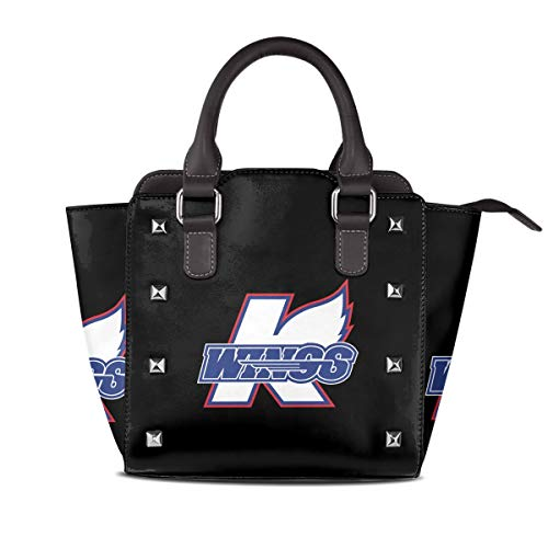 Sailsbu Women's Fashion Rivet Genuine Leather Kalamazoo-Wings-Logo-Hockey for sale  Delivered anywhere in Canada
