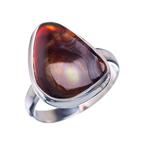 Ana Silver Co Rare Mexican Fire Agate 925 Sterling Silver Ring Size 10 - Handmade Fashion Gemstone Jewelry RING850787