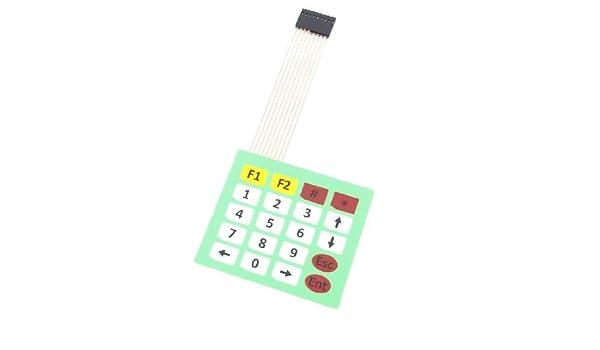 DealMux matriz 4 x 5 20 teclas 8Pins Flex Cable Plano fita Extensão Membrane Numeric Keyboard Switch - - Amazon.com