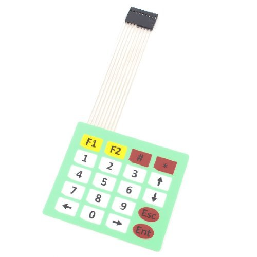 Water & Wood Array 4x5 20 Keys 8Pins Flex Flat Ribbon Cable Extended Numeric Membrane Switch Keyboard
