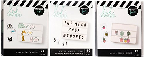 Heidi Swapp - Lightbox Inserts - Talking Animals, Plant Lady and Hand Lettered Alphabet & Numbers Megapack