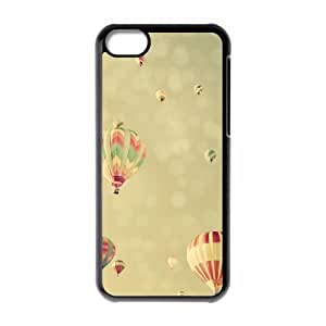 Iphone 5C 2D Custom Phone Back Case with Fire Balloon Image