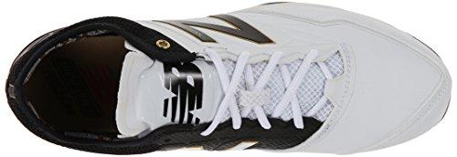 New Balance Mens MBB Minimus Low Baseball Shoe White/Black