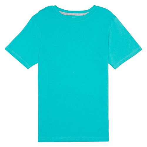 French Toast Big Boys' Short Sleeve Crew Neck Tee Shirt, Drift Turquoise, L (Drift Tee)