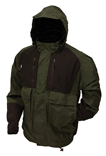 Frogg Toggs Bib - Frogg Toggs Men's Firebelly 2-Tone Jacket, Green/Black, Large