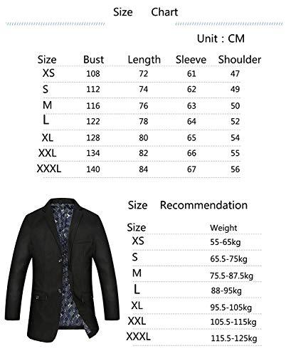 Lavoro Lavoro Giacche Elegante Fit Schwarz Casual Slim Slim Giacchetto Blazer Jacket Cappotto Giubbotto Suit Manica Fashion Lunga Uomo Risvolto Pingrog Vintage Giacca Risvolto wxqgX6808