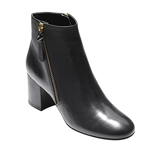 Cole Haan Women's Saylor Grand Bootie II Ankle Boot, Black Leather, 10.5 B US
