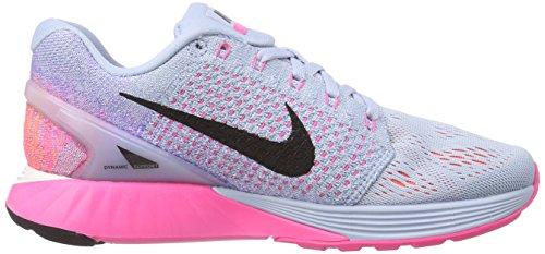 Nike Lunarglide 7 Damen Laufschuhe Grau (armeria Leggera Blu / Nero / Agrumi Luminosi)