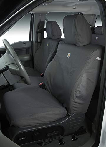 Covercraft Carhartt SeatSaver Second Row Custom Fit Seat Cover for Select Cadillac/Chevrolet/GMC Models - Duck Weave (Gravel) Covercraft Cadillac Seat Cover
