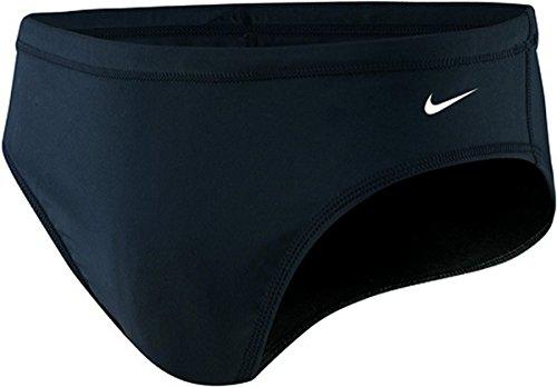 Nike Swim TESS0052 Mens Nylon Core Solid Brief, Black-32