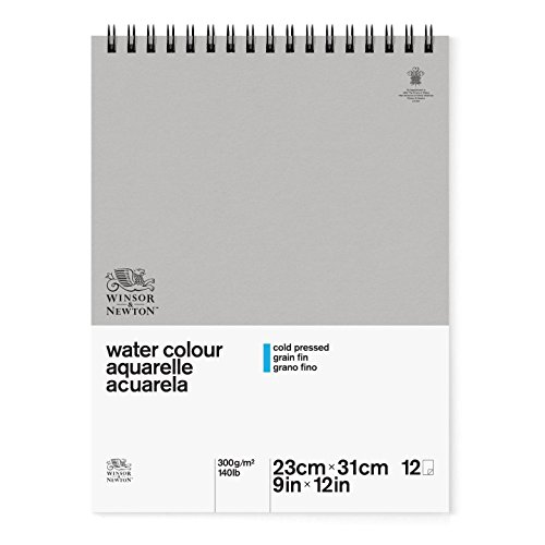 - Winsor & Newton Classic Watercolor Paper Spiral Pad, Cold Pressed 140lb, 9