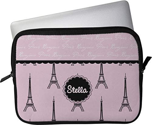 SWEET-YZ Laptop Sleeve Case Eifel Tower Paris and Roses Flowers Notebook Computer Cover Bag Compatible 13-15 Inch Laptop