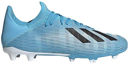 adidas Men's X 19.3 Firm Ground Soccer Shoe, Bright Cyan/Black/Shock Pink, 9 M US (Adidas Shoes Of Soccer)
