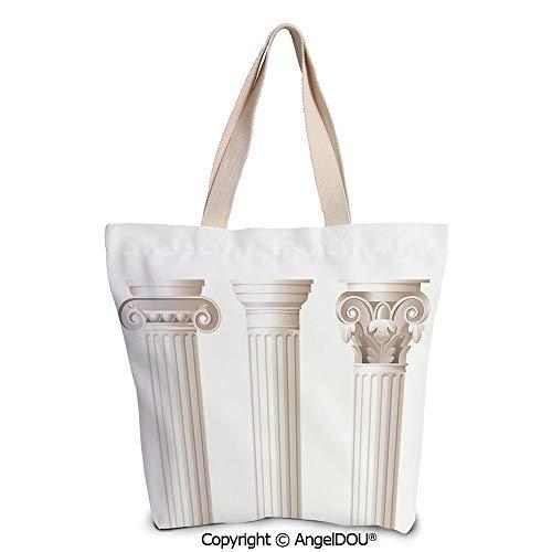 - SCOXIXI Pillar Decor printed Tote Schoolgirl Bag Ladies Shopper Canvas Bags Arc