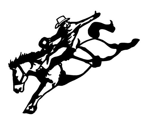 (Saddle Bronc v2 Decal Sticker - Peel and Stick Sticker Graphic - - Auto, Wall, Laptop, Cell, Truck Sticker for Windows, Cars, Trucks)