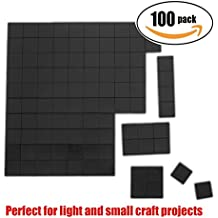 """Netany 100pcs Flexible Magnet Squares / Magnets for Crafts / Adhesive Magnets / Magnetic Tape / Magnet Strips with Adhesive Backing - Each Sheet: 4/5"""" x 4/5"""", 80mil"""
