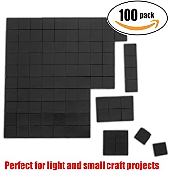 "Netany 100pcs Flexible Magnet Squares / Magnets for Crafts / Adhesive Magnets / Magnetic Tape / Magnet Strips with Adhesive Backing - Each Sheet: 4/5"" x 4/5"", 80mil"