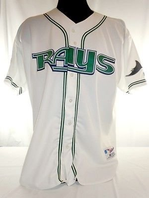 Tampa Bay Devil Rays Vintage Authentic Russell Home Jersey w/ 100 Seasons Patch (Bay Jersey Rays Home Devil)